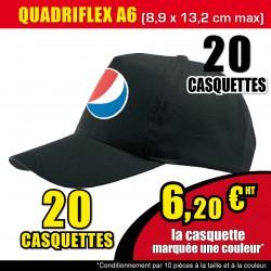 20 CASQUETTES QUADRIFLEX