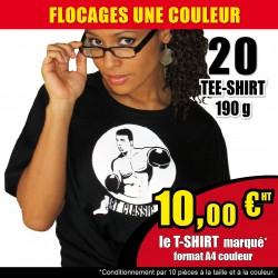 20 Tee-shirts floqués