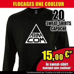 20 SWEAT-SHIRTS floqués
