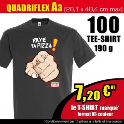 100 t-shirts marqués A3*